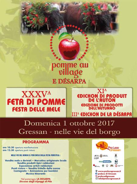 PLAN Pomme au Village e Désarpa - Domenica primo ottobre 2017