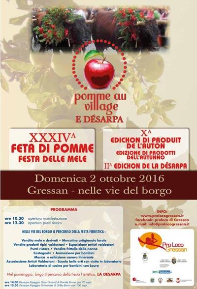Pomme au village e Désarpa 2016